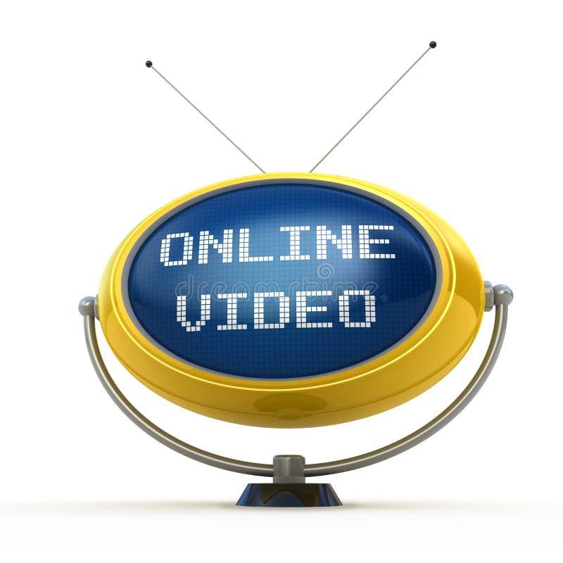 он-лайн видео иллюстрация вектора