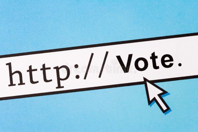 он-лайн голосовать стоковые фотографии rf