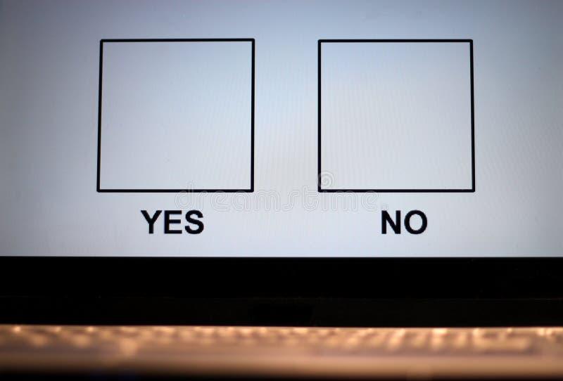 он-лайн голосовать стоковые изображения