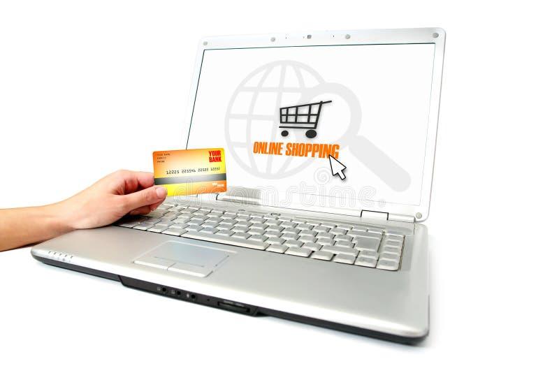 он-лайн покупка стоковые фото