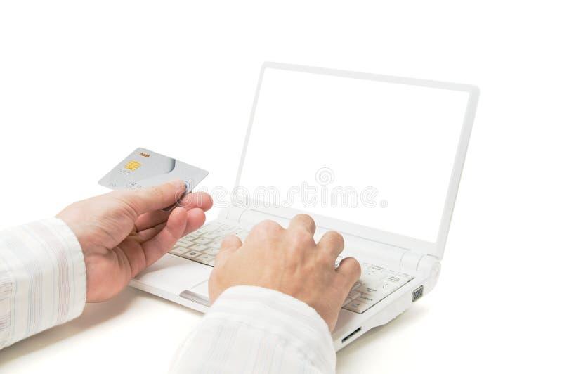 он-лайн покупка стоковое фото