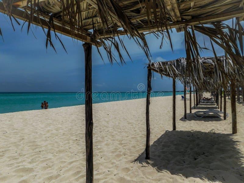 ООН Варадеро пляжа в изумительной Кубе стоковые изображения rf