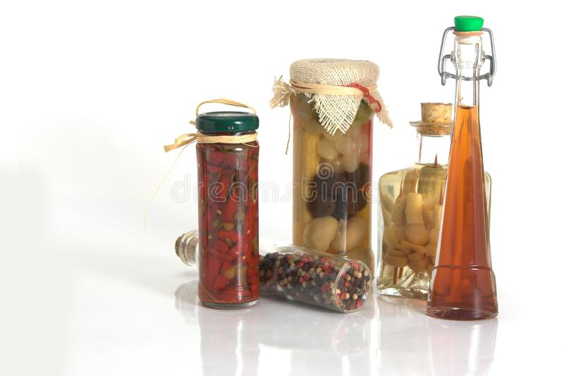 Опарникы специй и чеснока и лука стоковое фото