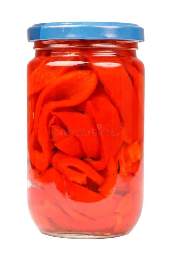Опарник красных перцев стоковые фото
