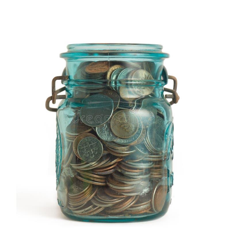 опарник монетки стоковые фото