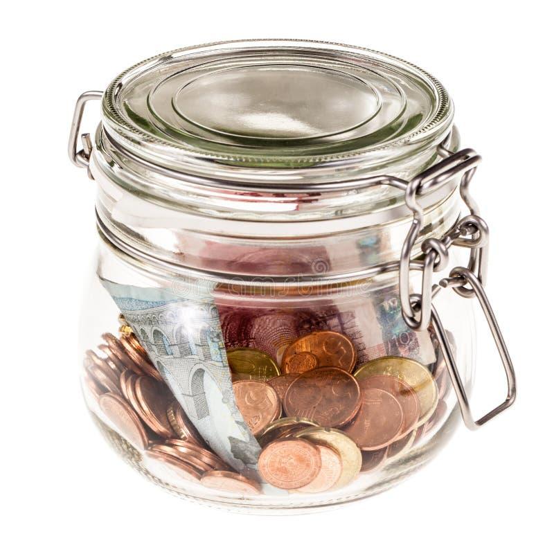 Опарник с деньгами стоковые изображения rf