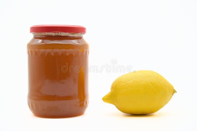 Опарник с медом и лимоном стоковое изображение rf