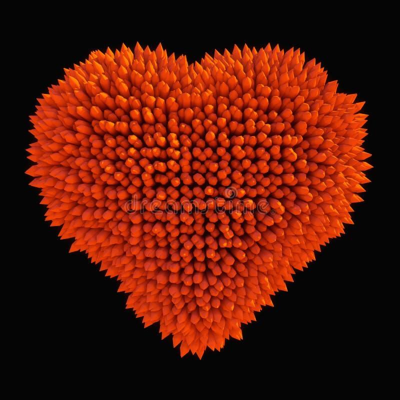 Опасная влюбленность: острая изолированная форма сердца acidotus бесплатная иллюстрация