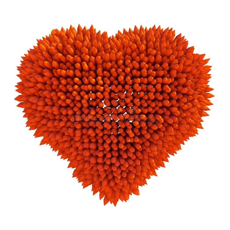 Опасная влюбленность: острая форма сердца acidotus иллюстрация штока