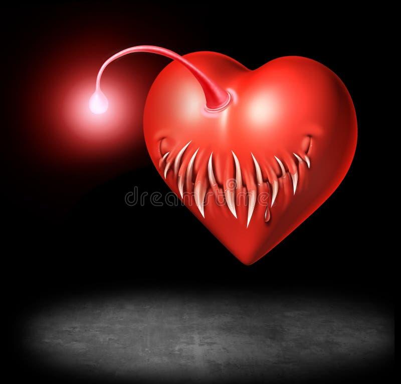 Опасность влюбленности иллюстрация штока