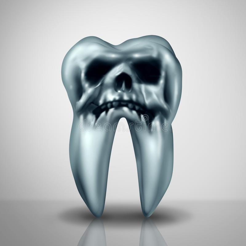 Опасность заболеванием спада зуба бесплатная иллюстрация