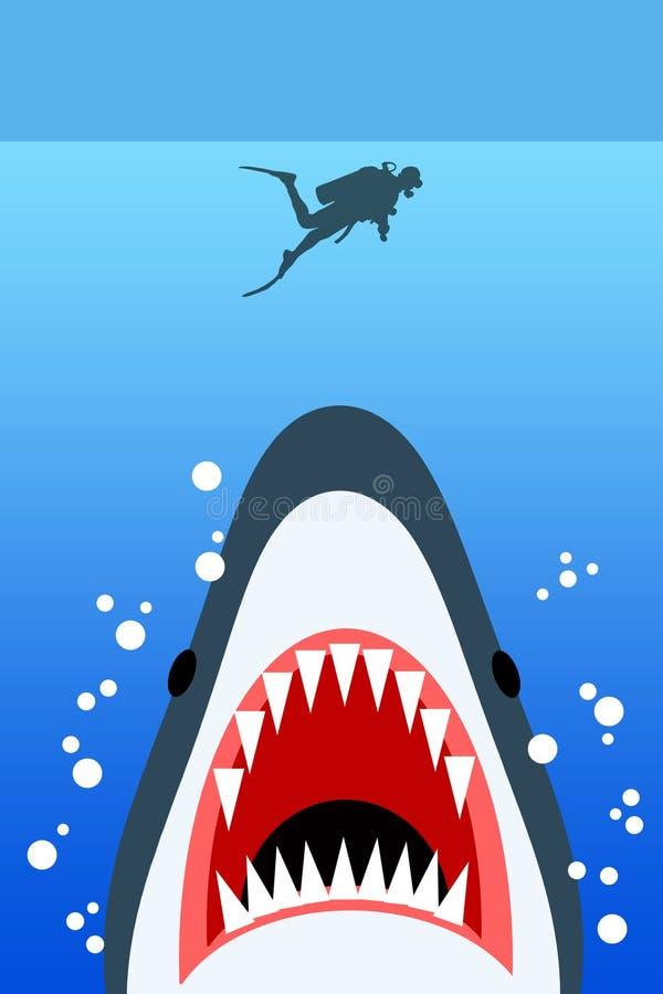 Опасность моря иллюстрация штока