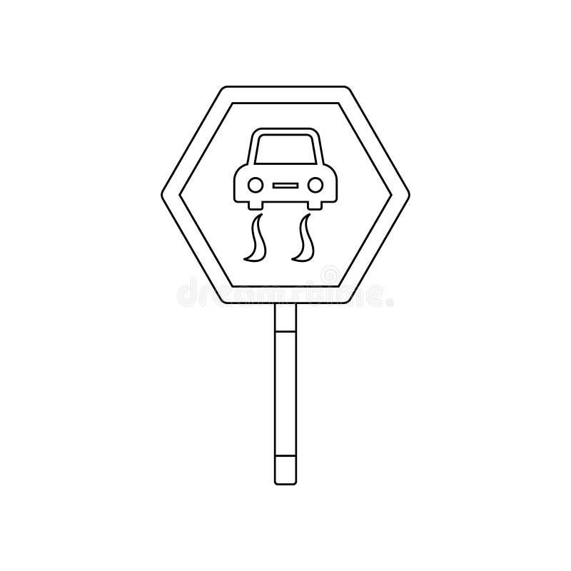 Опасность предупреждая покрашенный значок Элемент дорожных знаков и соединений для мобильных концепции и значка приложений сети r бесплатная иллюстрация