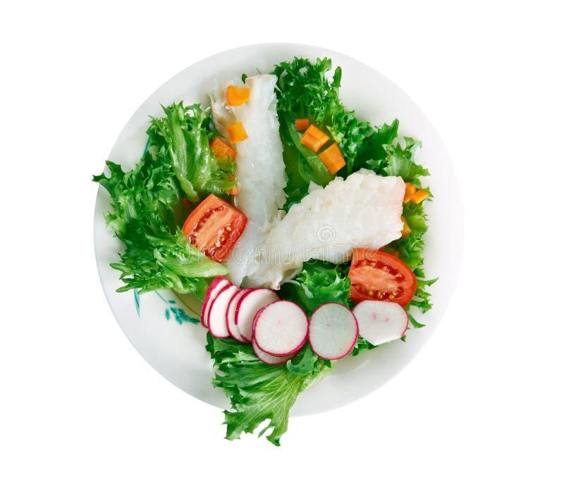 Опаленный салат трески стоковая фотография
