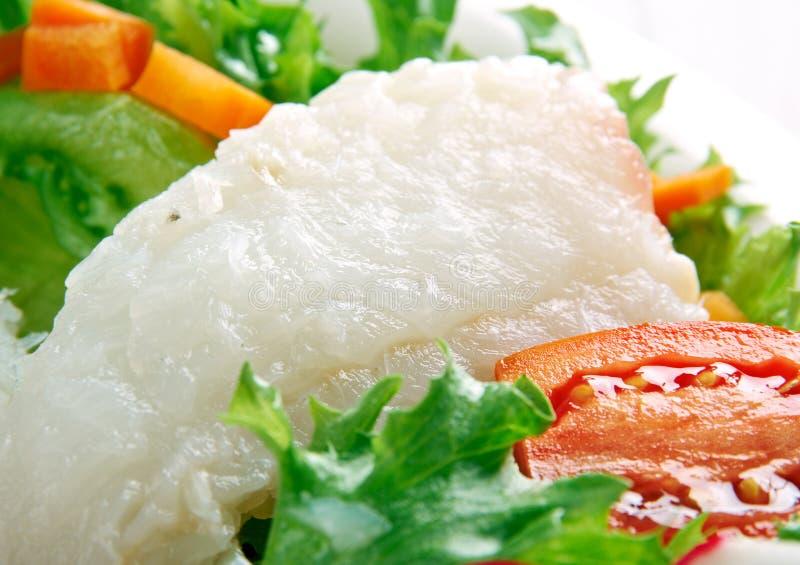 Опаленный салат трески стоковое фото rf