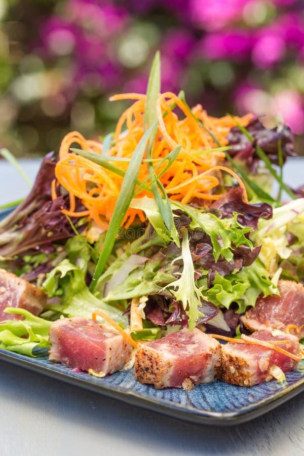 Опаленный салат Ahi стоковая фотография