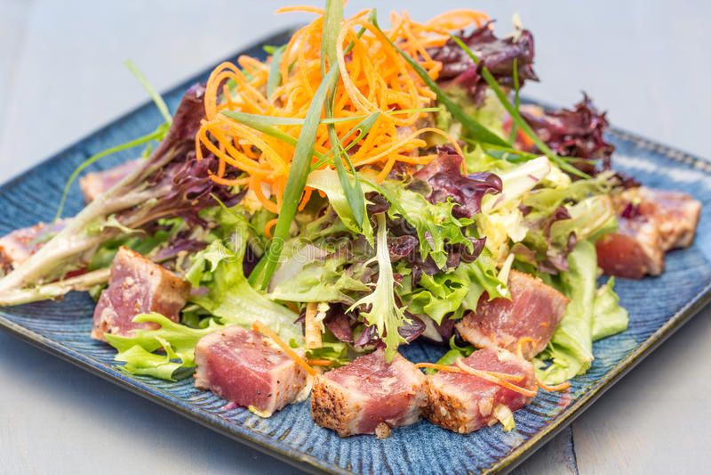 Опаленный салат Ahi стоковые фото