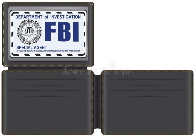 Оперативный сотрудник ФБР бумажника иллюстрация вектора