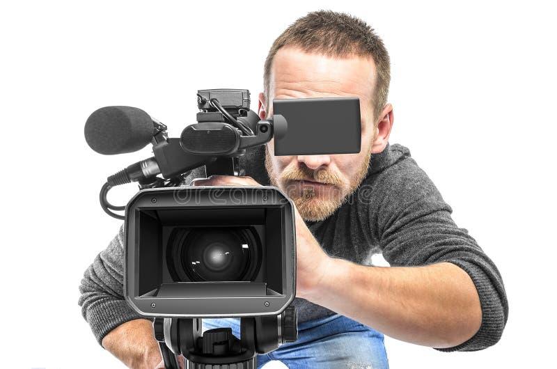 Оператор видеокамеры стоковые изображения rf