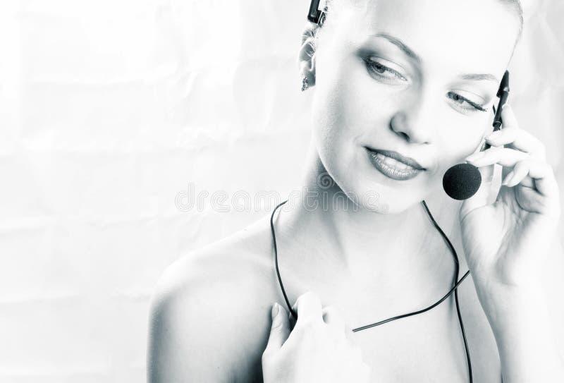 Download оператор девушки стоковое изображение. изображение насчитывающей горяче - 490437