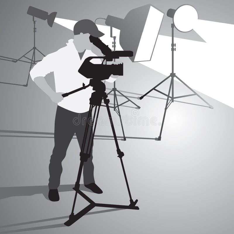 Оператор камеры иллюстрация штока