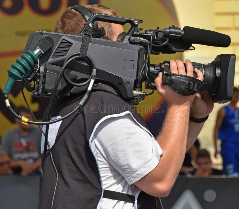 Оператор на работе внешней стоковое изображение