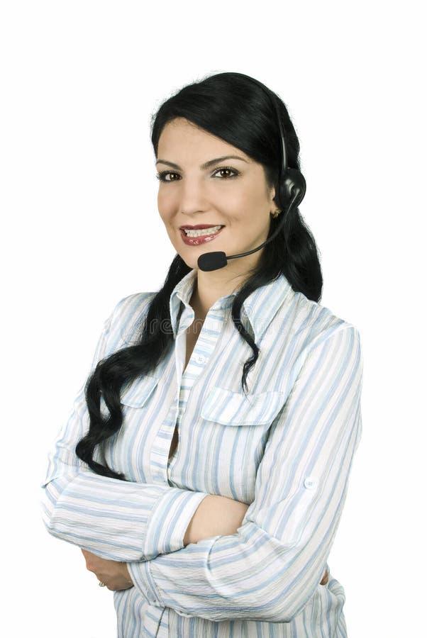оператор центра телефонного обслуживания стоковая фотография rf