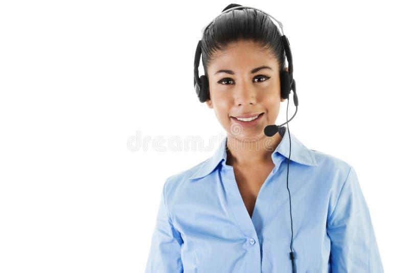Оператор центра телефонного обслуживания стоковые изображения