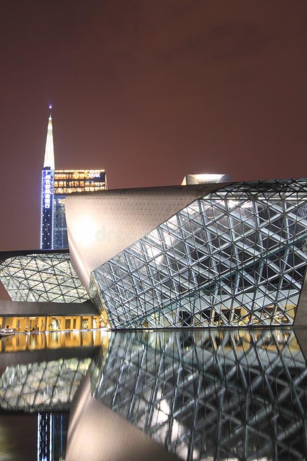 Опера Гуанчжоу в Китае стоковое изображение rf