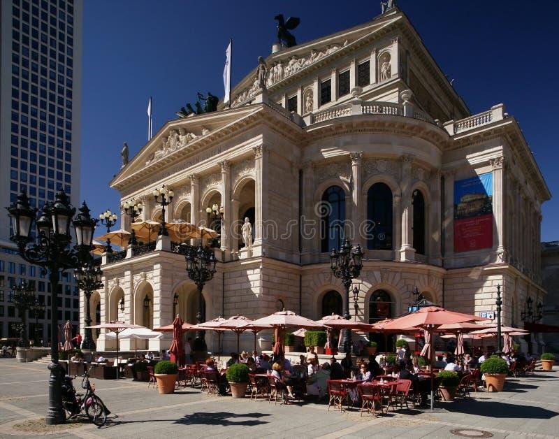 опера дома frankfurt старая стоковая фотография rf