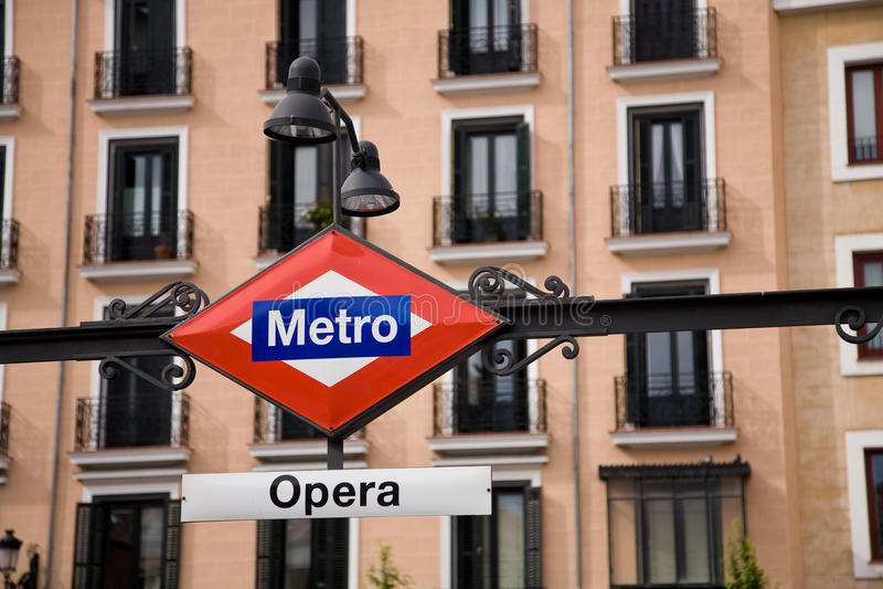 опера метро madrid стоковое фото