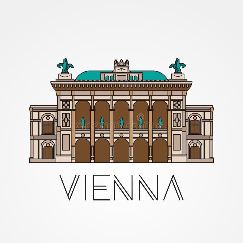 Опера положения вены - символ Австрии иллюстрация вектора