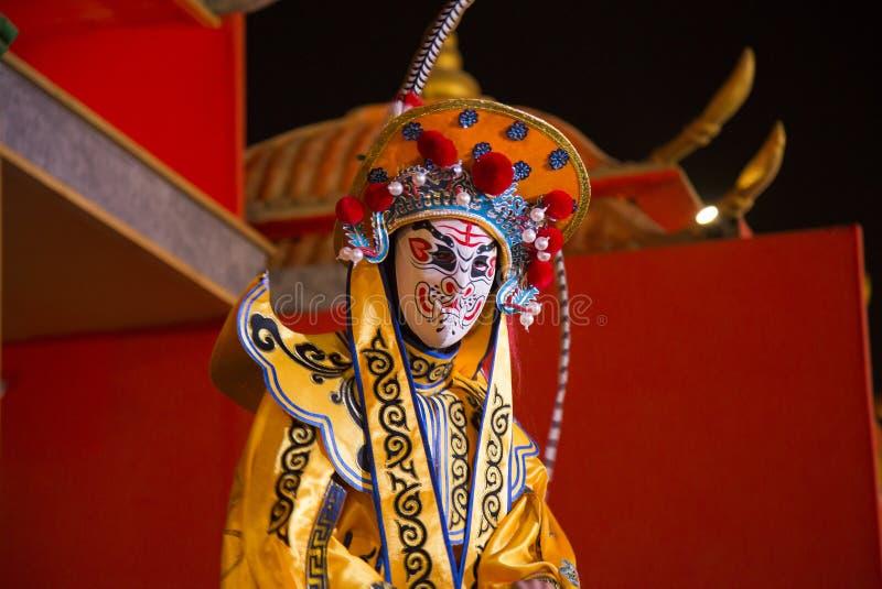 Опера Сычуань, изменяя сторона оперы Сычуань изменение стороны танца китайца стоковые изображения