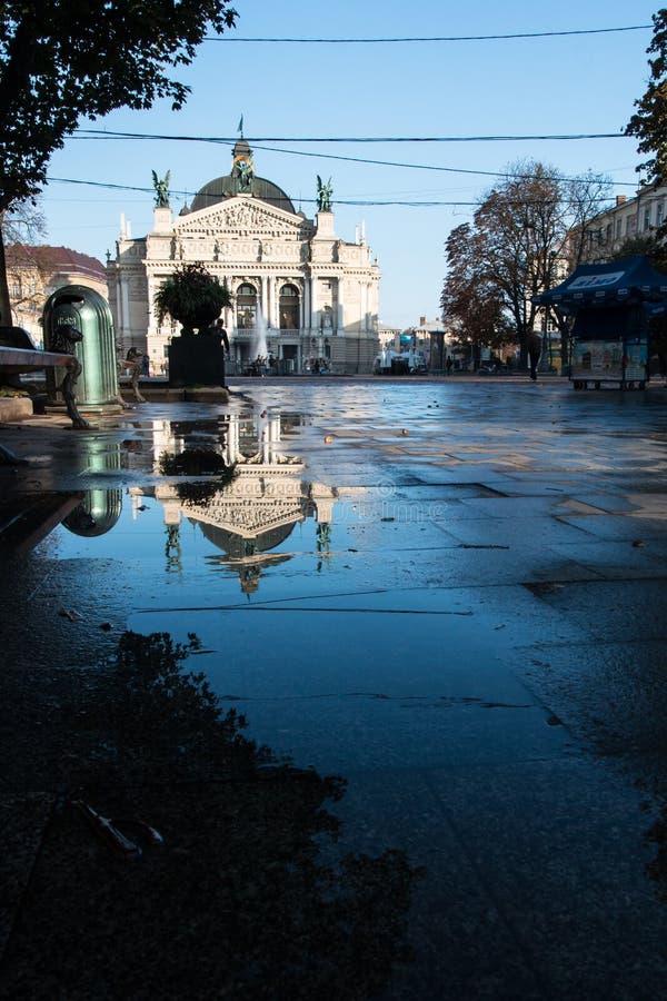 Опера Украина Львова национальная стоковое фото