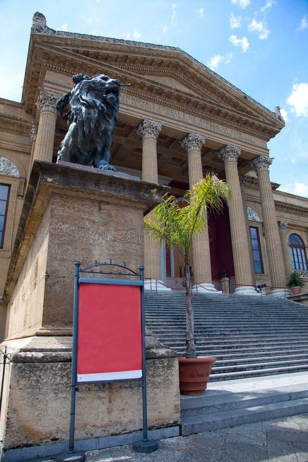 опера palermo Сицилия дома стоковое фото rf