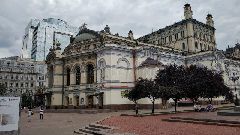 Оперный театр в Киеве стоковое изображение