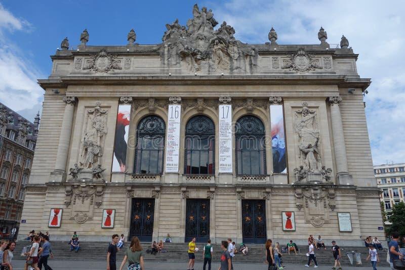 Оперный театр в Лилле стоковое изображение rf