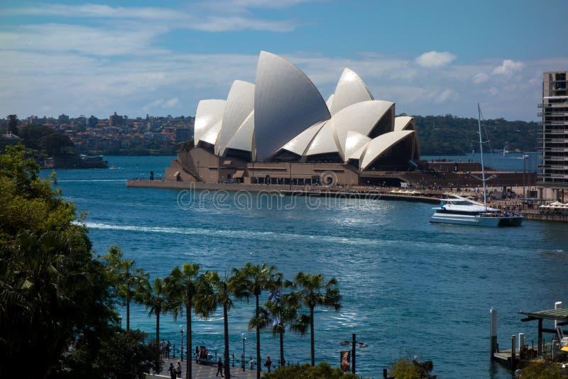 Оперный театр и гавань Сиднея стоковые изображения rf
