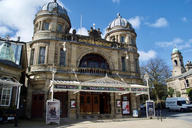 Оперный театр и здания Buxton стоковая фотография rf