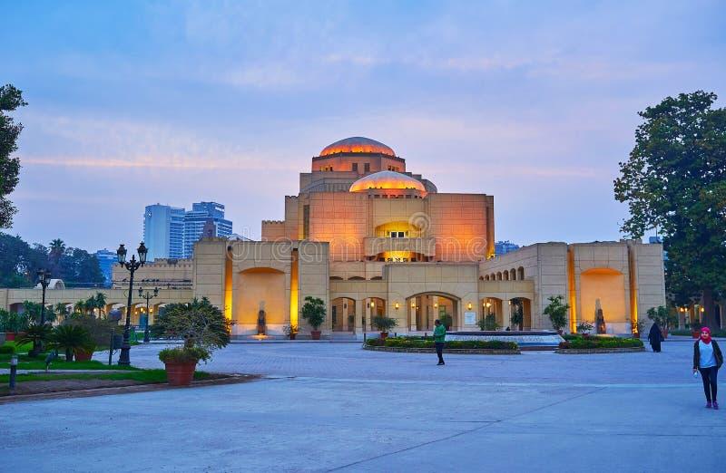 Оперный театр Каира, Египта стоковое изображение rf