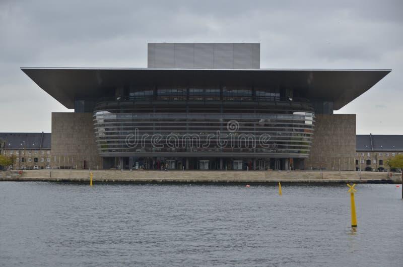Оперный театр Копенгагена Дании стоковое фото