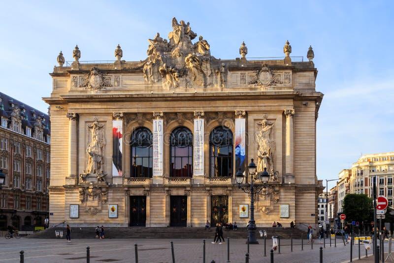 Оперный театр Лилля стоковая фотография rf