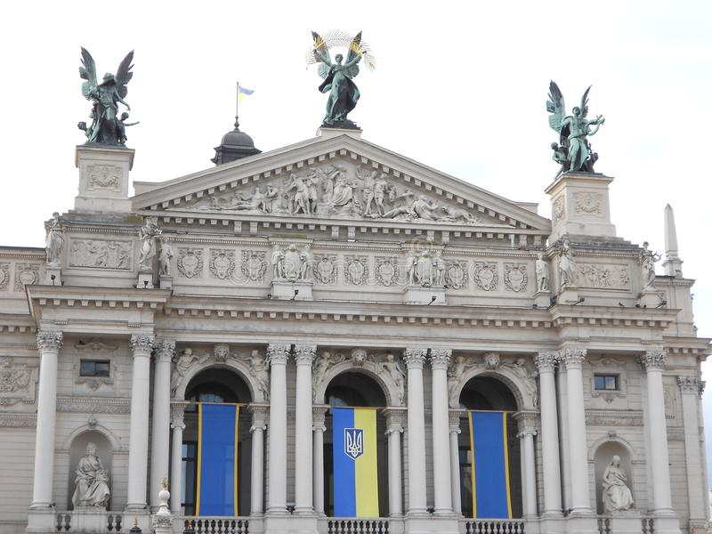 Оперный театр Львова стоковое фото
