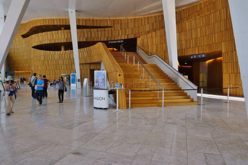 Оперный театр Осло стоковое фото rf