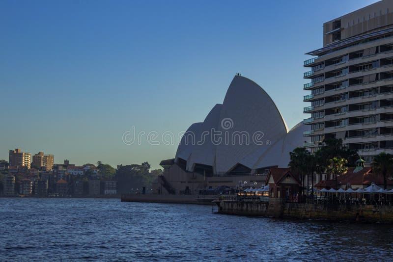Оперный театр Сиднея в гавани Сиднея стоковые изображения