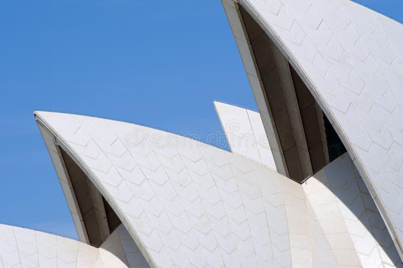 Оперный театр Сиднея, деталь крыши стоковое фото