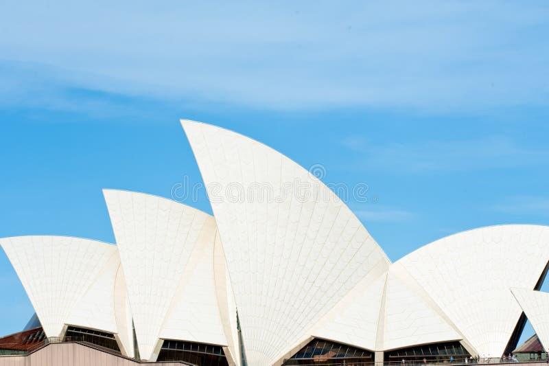 Оперный театр Сиднея, деталь крыши стоковые фотографии rf