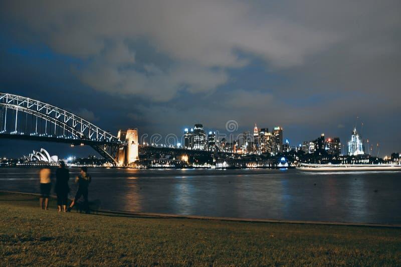 Оперный театр Сиднея, мост гавани и CBD стоковая фотография rf