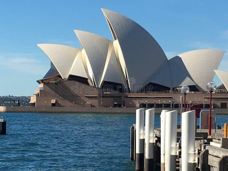 Оперный театр Сиднея на гавани стоковые изображения rf