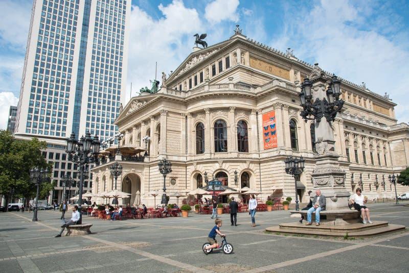 Оперный театр Франкфурта старый, Германия стоковые фотографии rf